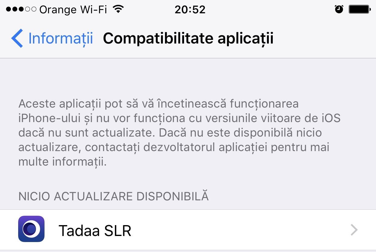 ios 10.3 beta 3 aplicatii incompatibile