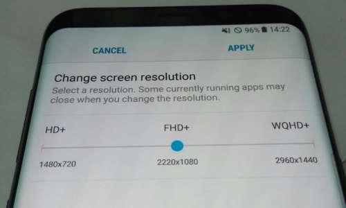 Samsung Galaxy S8 rezolutie ecran