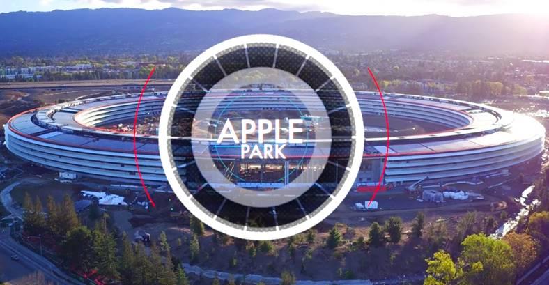 apple park drona video