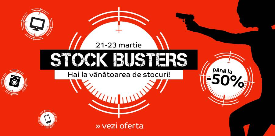 eMAG Stock Busters reduceri martie