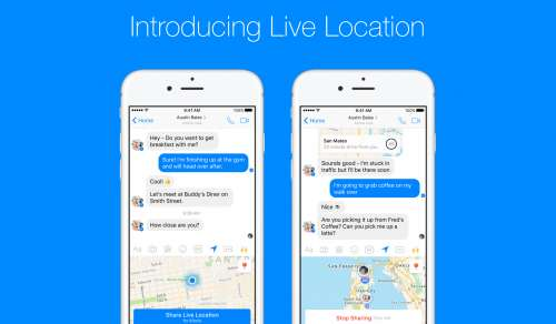 facebook live location iphone