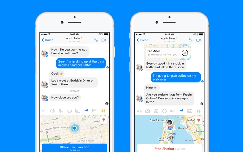 facebook live location iphone ios