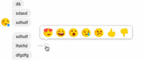 Facebook Messenger va avea butoane de like, dislike si reactii