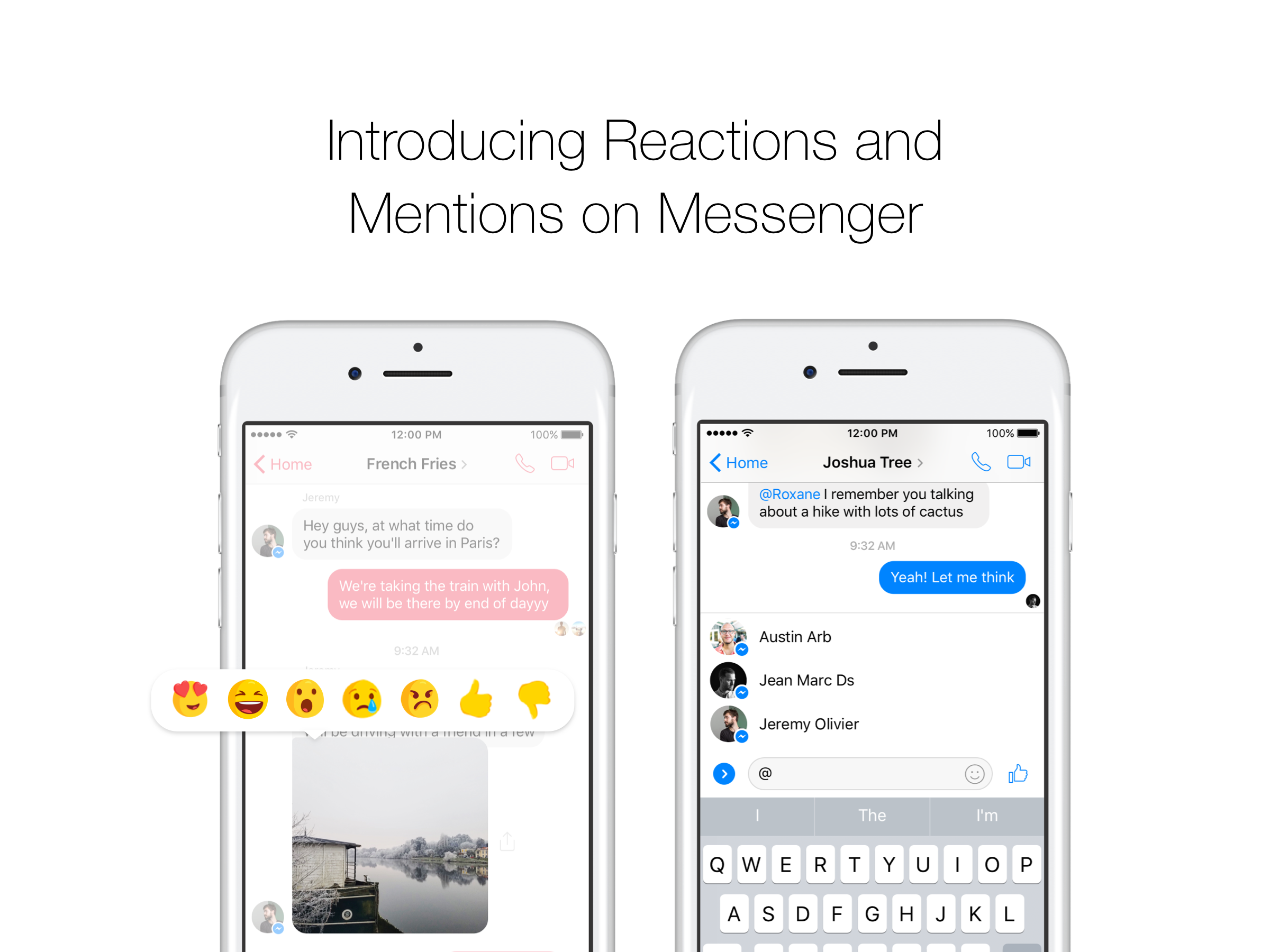 facebook messenger reactii mentiuni