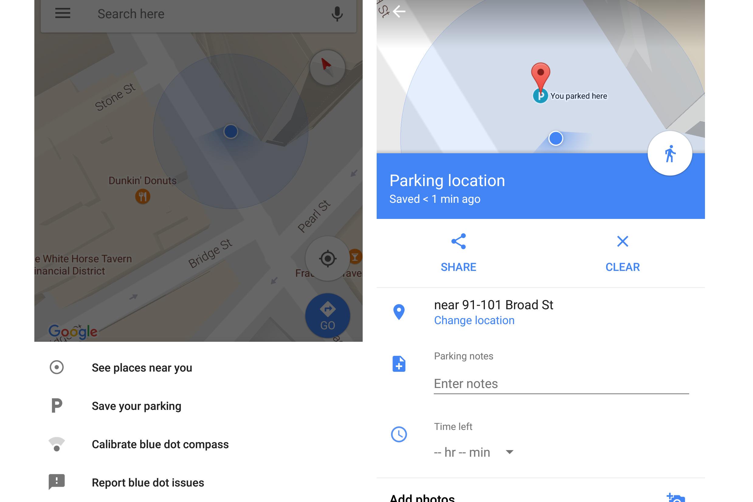 google maps parcare