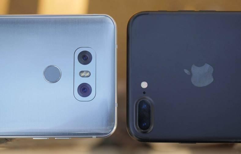 iphone 7 lg g6 autonomie baterie