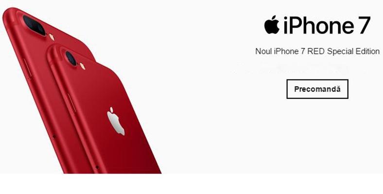 iphone 7 rosu precomanda orange