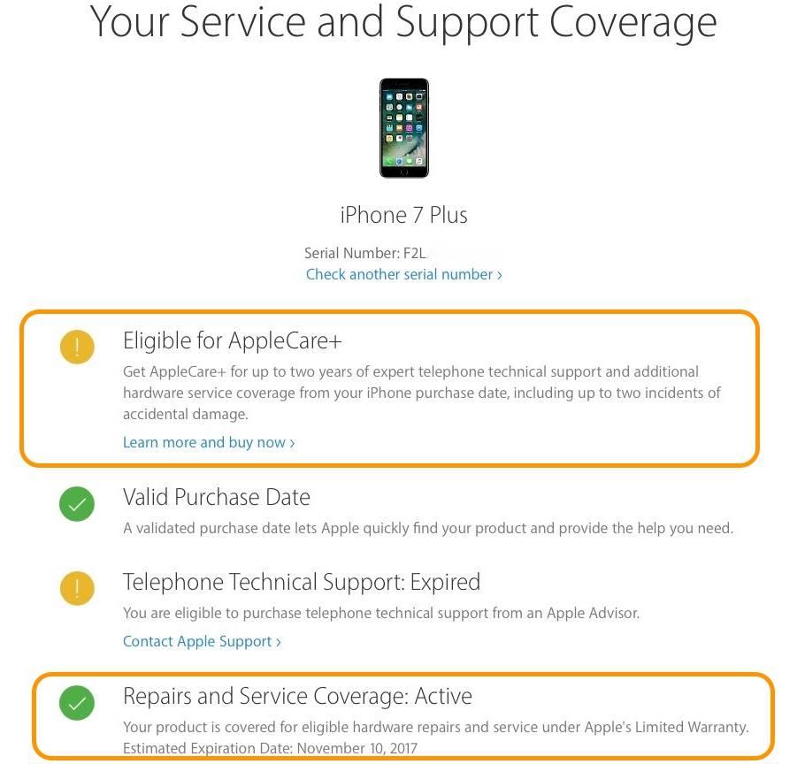 iphone garantie applecare