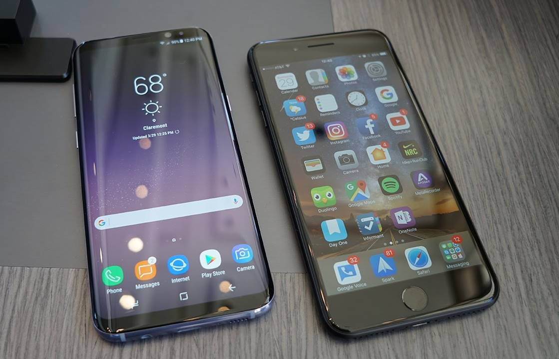 samsung galaxy s8 comparatii iphone 7
