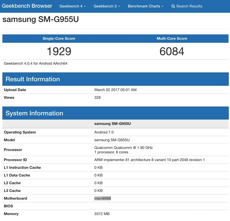 samsung galaxy s8 performante