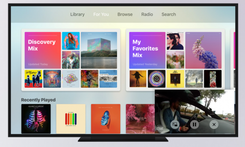 Apple TV 4 picture-in-picture