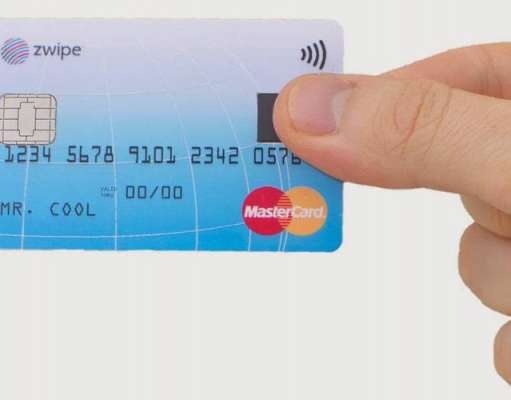 MasterCard card citire amprente