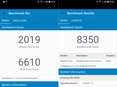 Samsung Galaxy S8 Plus performante geekbench