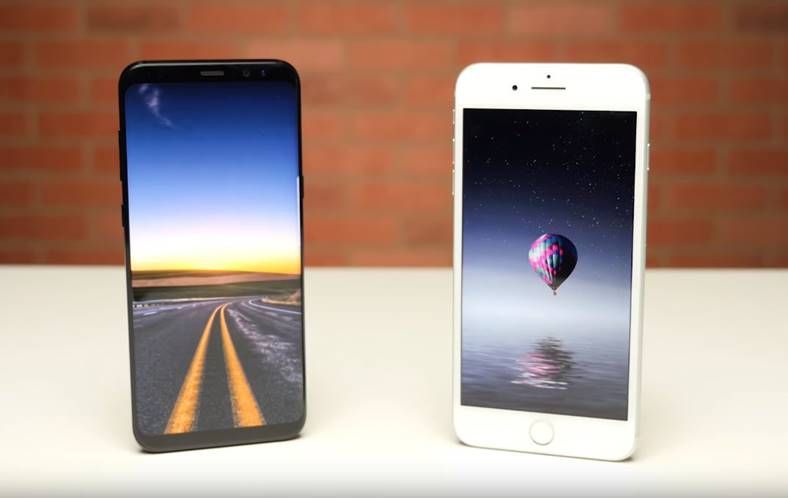 Samsung Galaxy S8 performante iPhone 7 Plus