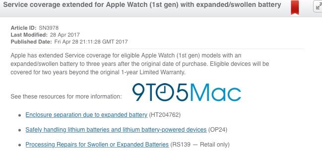 apple watch garantie extinsa baterie