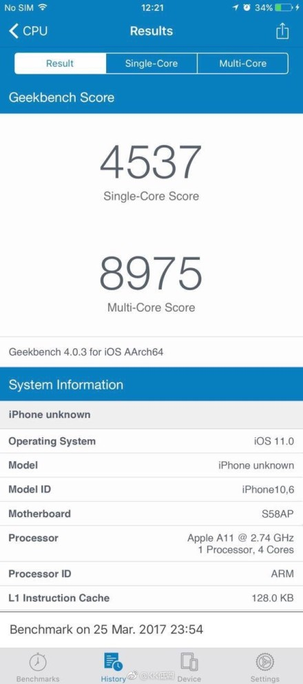 iphone 8 test performante