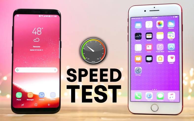 samsung galaxy s8 umilit iphone 7 plus performante