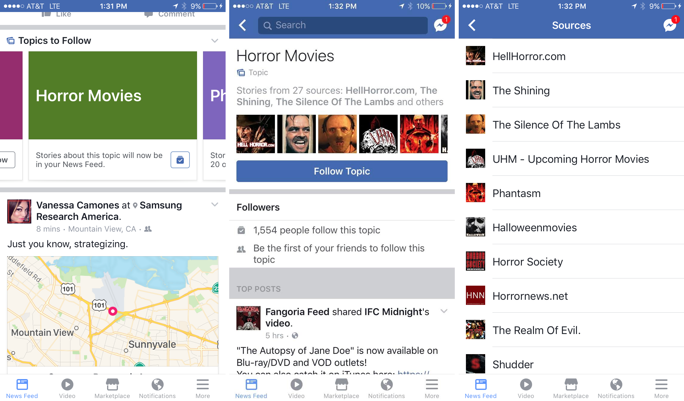 Facebook News Feed teme interes