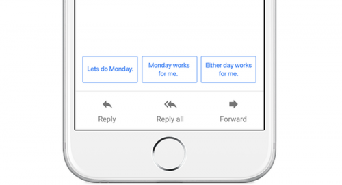 GMail smart reply iPhon