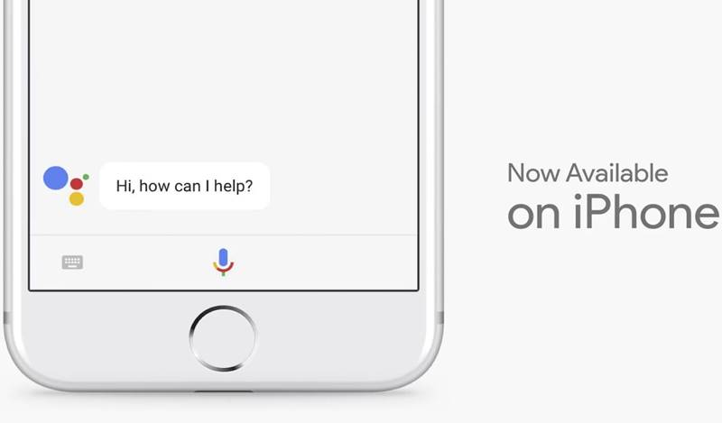 Google Assistant iPhone aplicatie