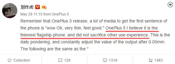 OnePlus 5 subtire