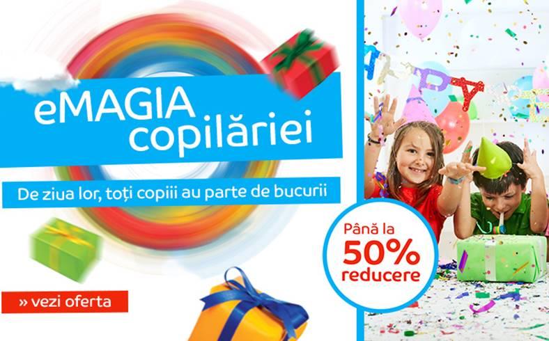 eMAG are pana de Ziua Copilului mii de cadouri cu reduceri foarte bune