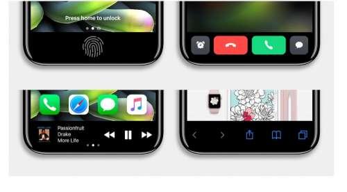iPhone 8 concept interfata urata 3