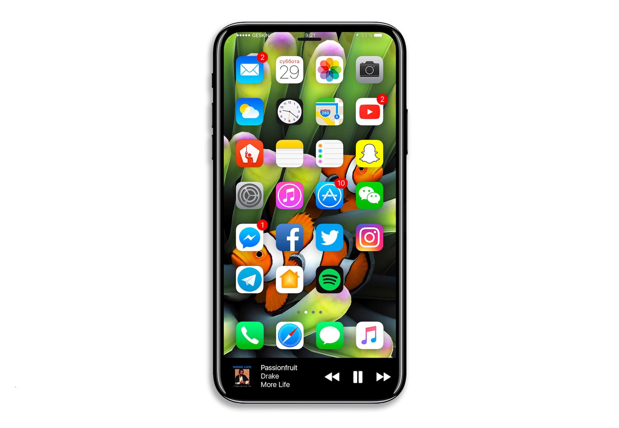 iPhone 8 concept interfata urata 6