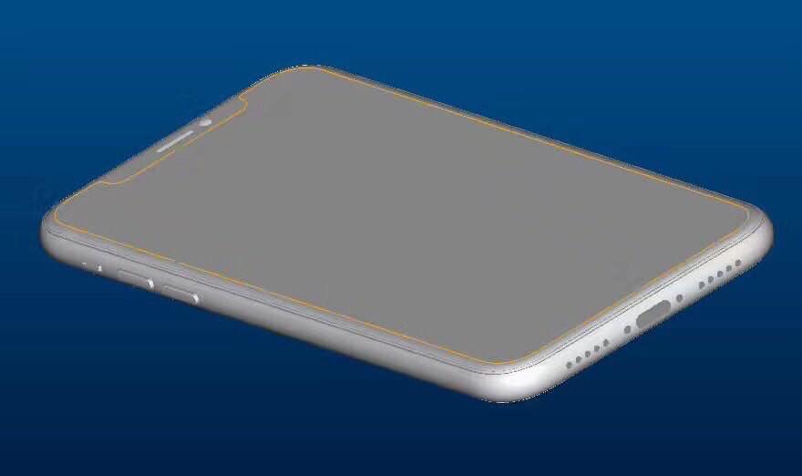 iPhone 8 schita design