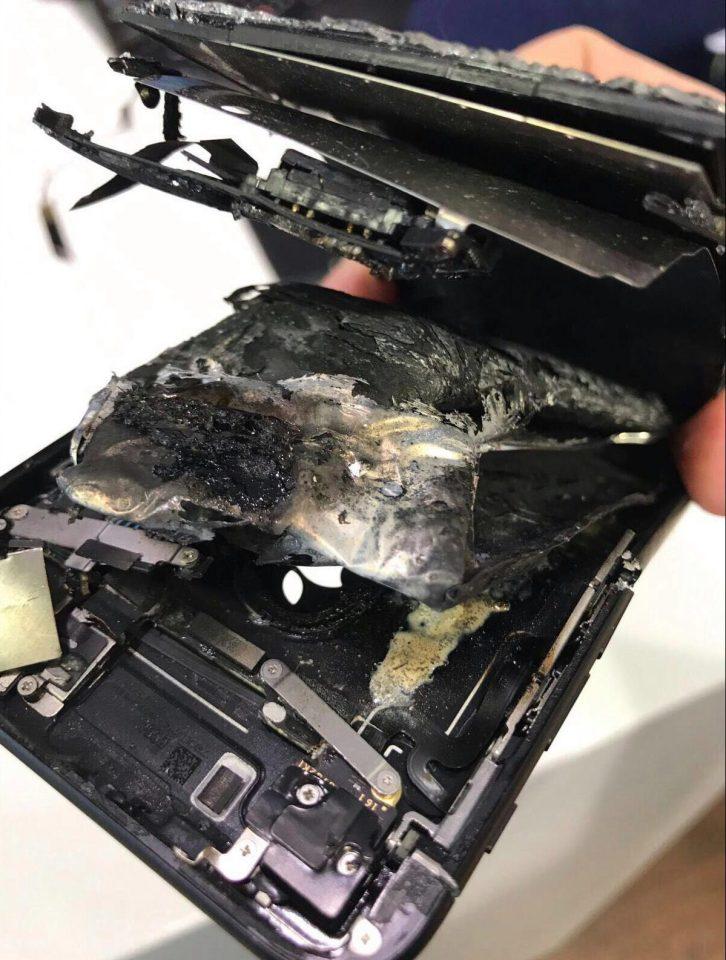 iphone 7 explozie apel 1