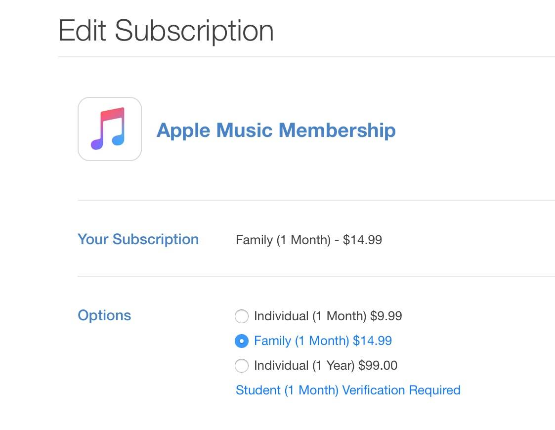 Apple Music abonament anual