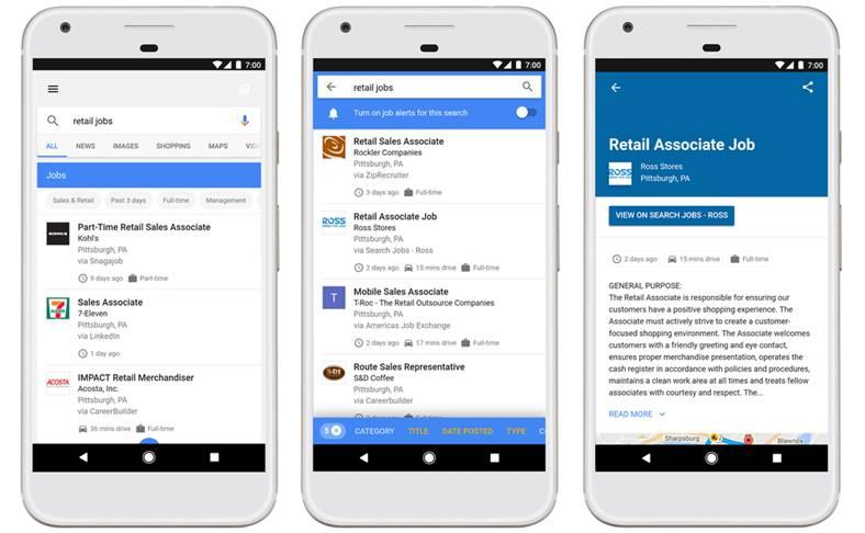 Google loc munca
