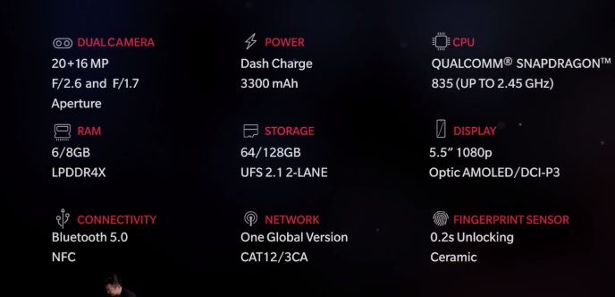 OnePlus 5 specificatii