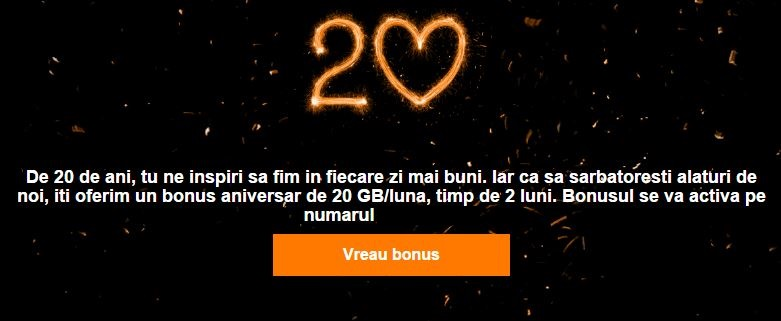 Orange bonus 20 GB internet gratuit