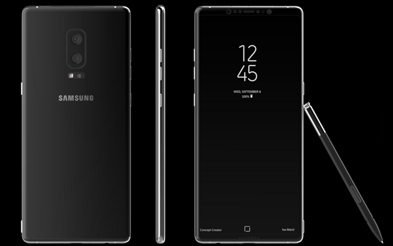 Samsung Galaxy Note 8 imagine presa noua