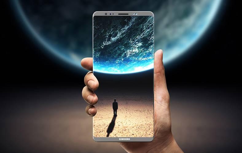 Samsung Galaxy Note 8 schimbare design ora