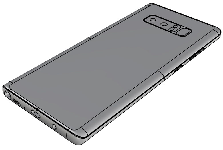 Samsung Galaxy Note 8 schimbare design