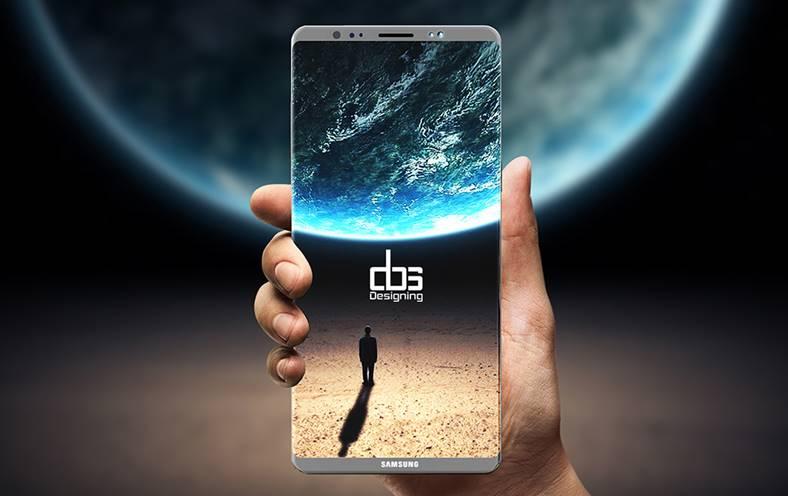 Samsung Galaxy Note 8 schita design