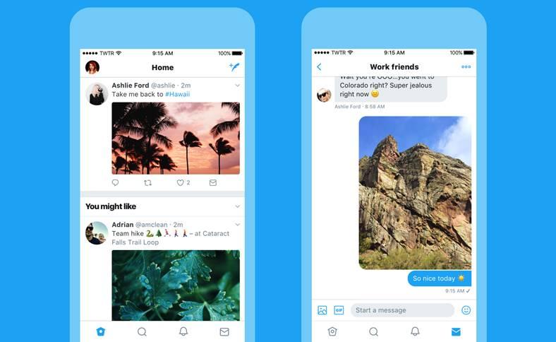 Twitter design nou