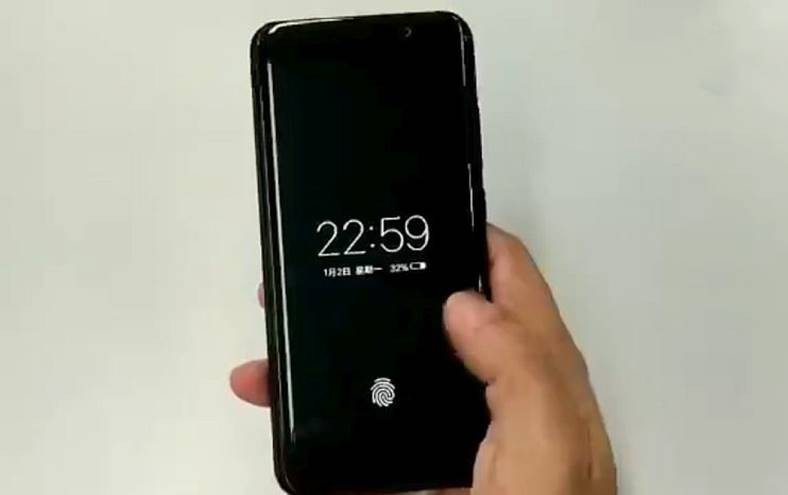 Vivo smartphone cititor amprenta ecran