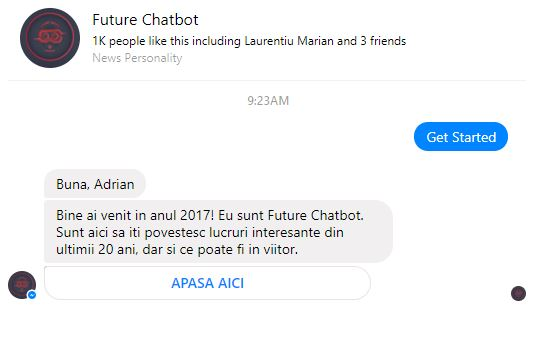 Vodafone future chatbot facebook