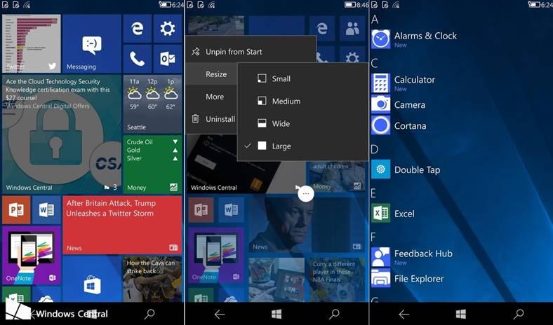 Windows 10 cshell telefoane mobile