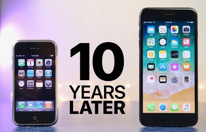 iOS 1 vs iOS 11 iPhone comparatie