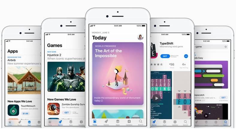 iOS 11 App Store design arata iPhone iPad