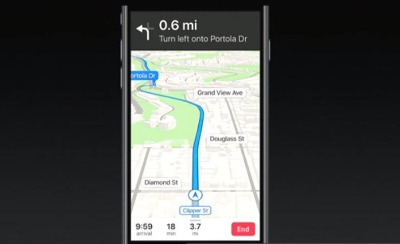 iOS 11 Apple Maps Waze Google Maps