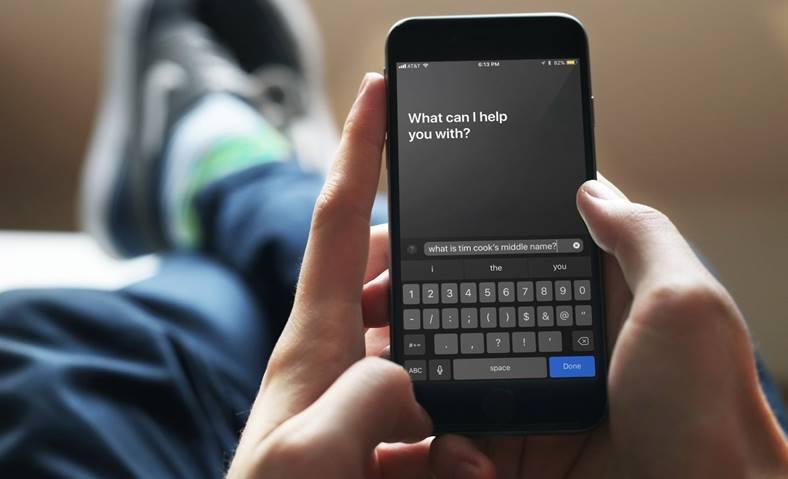 iOS 11 Siri tastare comenzi