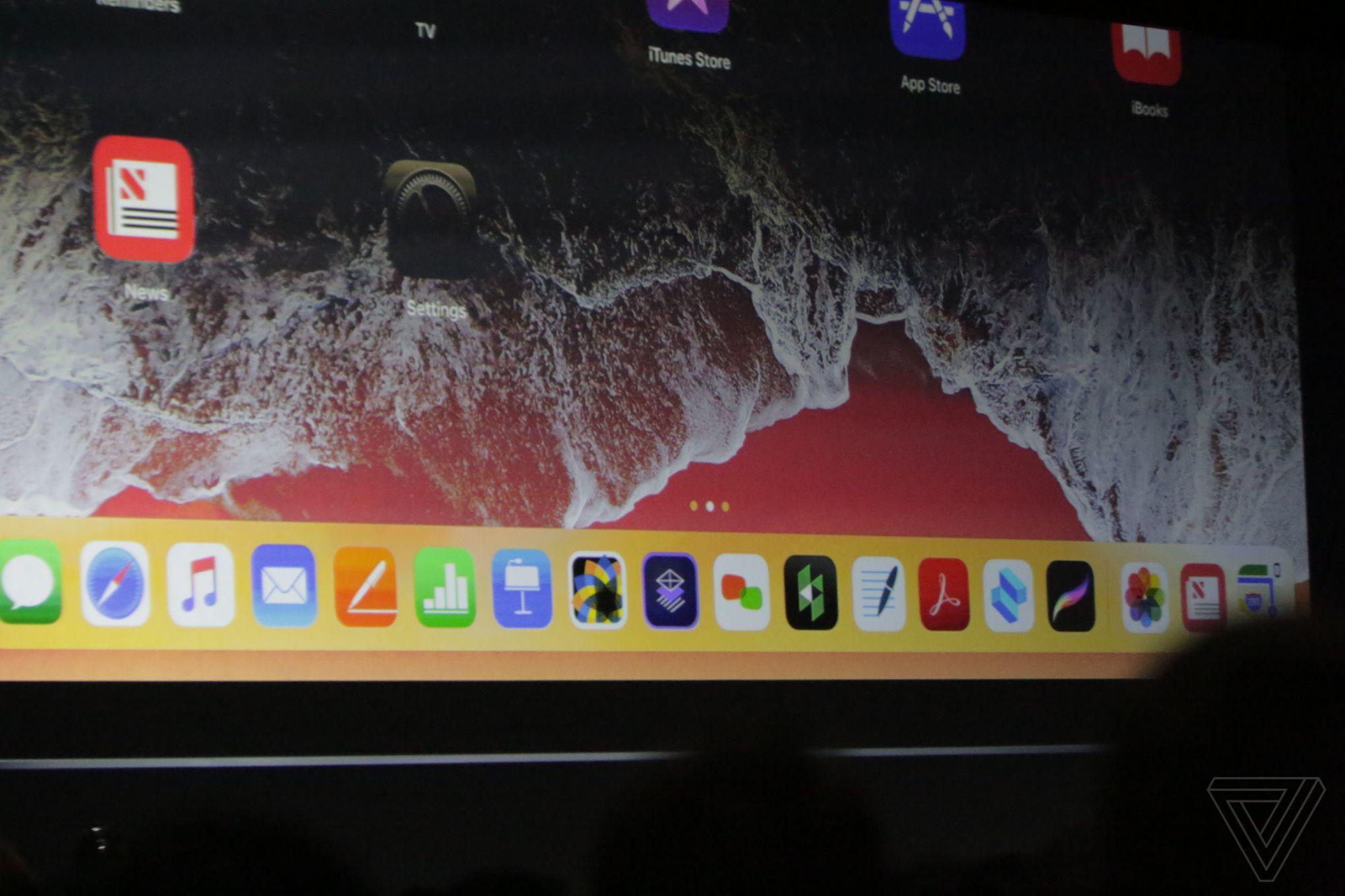 iOS 11 dock ipad