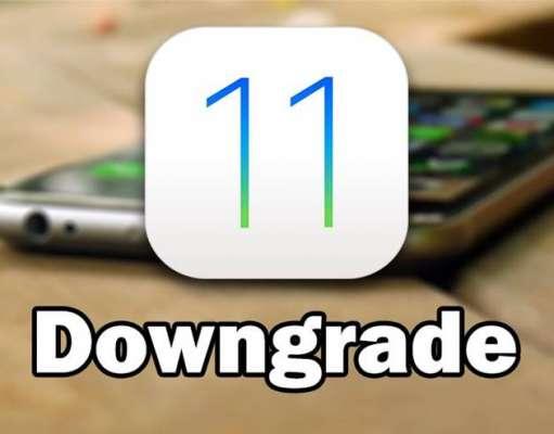 iOS 11 downgrade iOS 10.3.2 iPhone iPad