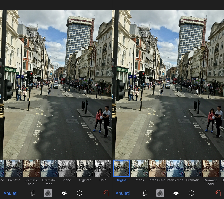iOS 11 filtre foto poze