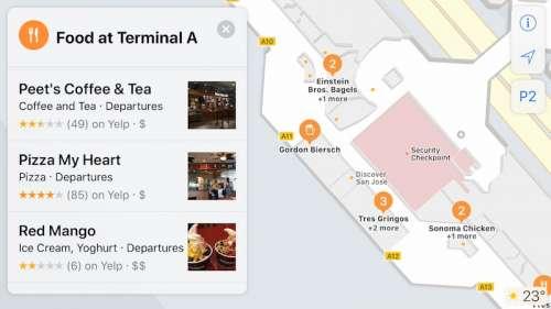 iOS 11 harti cladiri aeroport